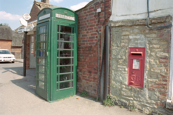Green Telephone Box. © Dr Barry Senior ARPS