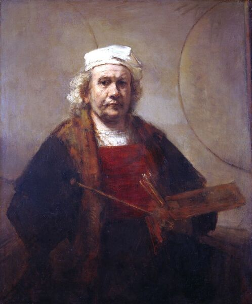 Rembrandt - Self Portrait J910070. © Historic England