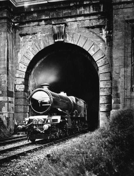 No 6000 King George V emerging from Middle Hill Tunnel. © Steam Picture Library