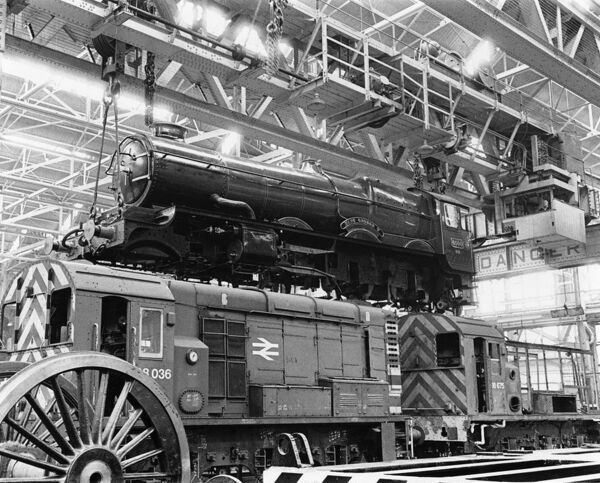No 6000 King George V at Swindon Works. © Steam Picture Library