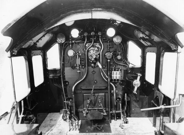 Cab of a Castle Class locomotive. © Steam Picture Library