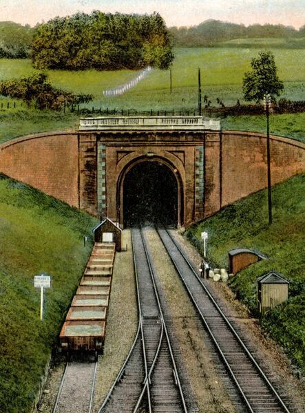 colour tinted photo box tunnel c1920s
