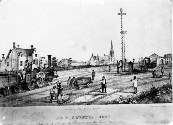 New Swindon, 1847. © Steam Picture Library