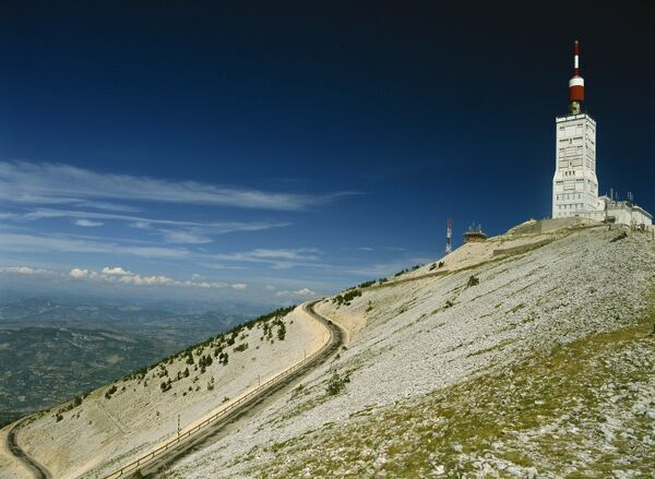 the summit of mont ventoux in vaucluse provence