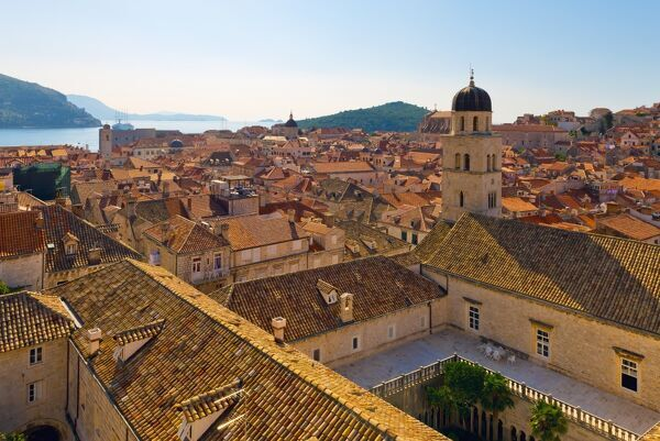 The tower of the franciscan monastery old town stari - The house in the old franciscan tower ...