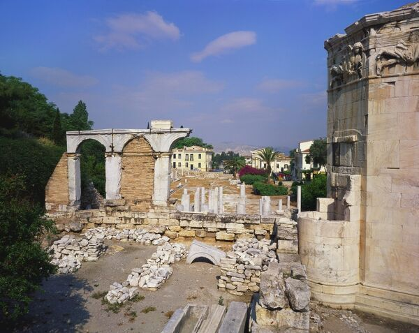 Tower of the Winds and Roman Agora, Athens, Greece - Photo ...