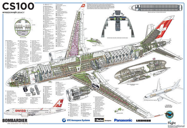 cutaways/cs100 swiss international air lines