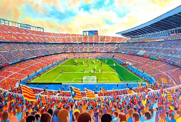 Camp Nou Stadium Fine Art Fc Barcelona 19154870 Framed Prints