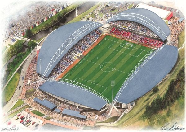 John Smith's Stadium Art - Huddersfield Town #8651809. © Sports Stadia Art Ltd