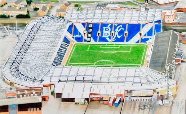 st andrews stadia art birmingham city fc
