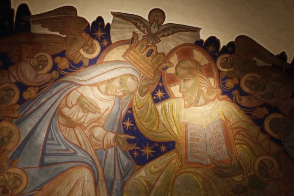 Painting in Sainte Jeanne of Chantal church. © Godong/UIG