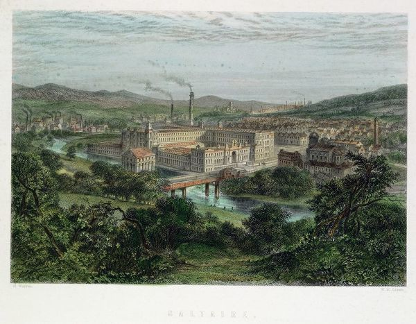 saltaire model textile factory town near bradford