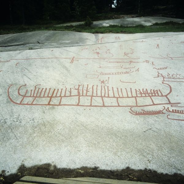 Sweden vityckle prehistoric rock carvings