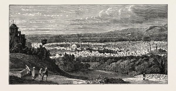 VIEW OF DAMASCUS, capital and the second largest city of ...