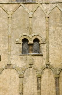 Anglo-Saxon window and arcading N071988