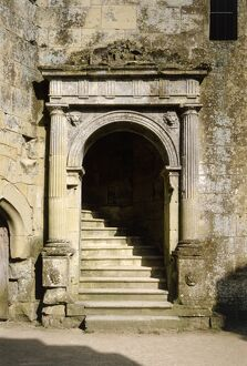 Doorway to the Great Hall, Old Wardour Castle K951534