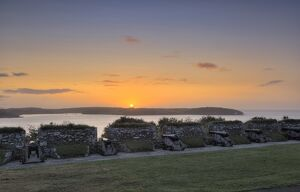 East Bastion at sunset, Pendennis Castle N080674