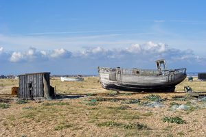 Fishing boat, Dungeness Beach N100297