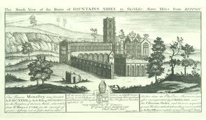Fountains Abbey engraving N070733