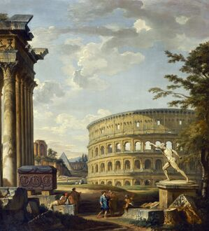 Panini - Roman Landscape with the Colosseum J920082