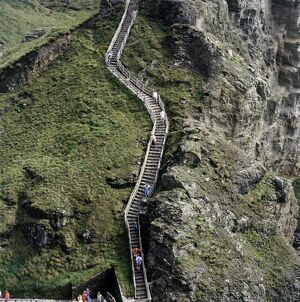 The walkway stairs at Tintagel Castle K971391