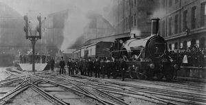 The last broad gauge train leaving Paddington Station, 29th May 1892