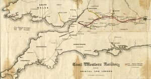 GWR Prospectus Map from 1834