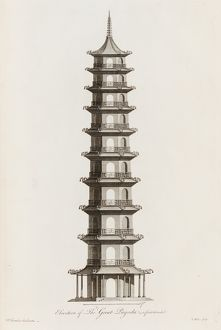 architecture/elevation great pagoda first intended
