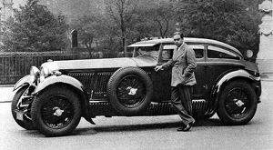 Captain Woolf Barnato with his Bentley