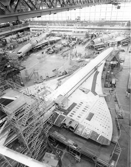 Concorde production in the main assembly hall at Filton