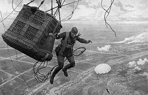 Dropping from a Kite Balloon 1917
