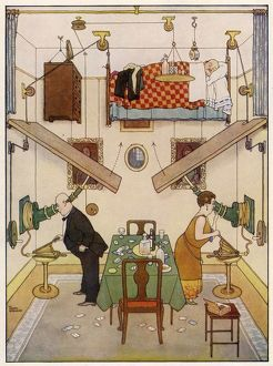 An Ideal Home No. V. The Spare Room by William Heath Robinson