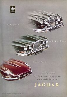 Jaguar car advertisement