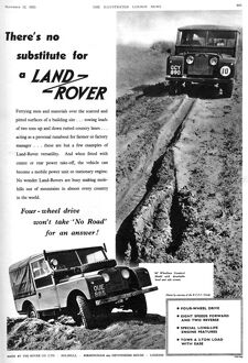 Land Rover advertisement, 1955