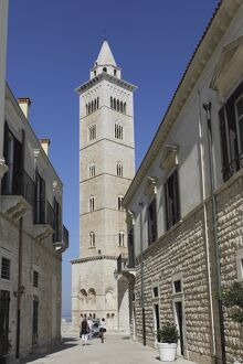 The 60 metre tall bell tower of the Cathedral of St. Nicholas the Pilgrim (San Nicola