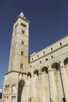 The 60m tall bell tower of the Cathedral of St. Nicholas the Pilgrim (San Nicola