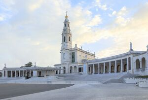 Basilica of Our Lady of the Rosary at the Portuguese Catholic Sanctuary of Fatima