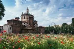 The Basilica of San Lorenzo Maggiore, an important place of Catholic worship, Milan