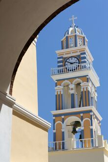 Belltower of the Catholic Cathedral Church of St. John the Baptist, Fira, Santorini