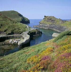 Boscastle Harbour, Boscastle, Cornwall, England, United Kingdom, Europe