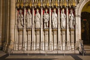 Detail of the choir screen in York Minster, one of the finest examples of Gothic