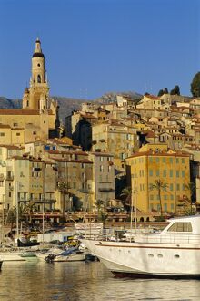 Harbour at Menton, Alpes Maritimes, Provence, French Riviera, France, Europe
