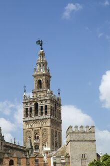 La Giralda, bell tower, Seville Cathedral, UNESCO World Heritage Site, Seville, Andalucia