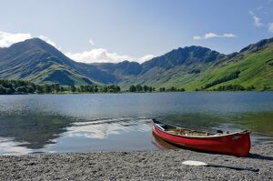 Lake Buttermere with Fleetwith Pike and Haystacks, Lake District National Park, Cumbria
