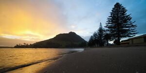 Mount Maunganui sunset, Tauranga, North Island, New Zealand, Pacific