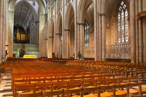 The nave of York Minster, one of the finest examples of Gothic architecture in Europe