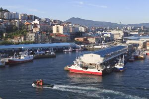 The Port of Vigo, the largest fishing port in Europe, Galicia, Spain, Europe