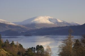 View from Grange road over Derwentwater to Saddleback [Blencathra], Lake District National Park