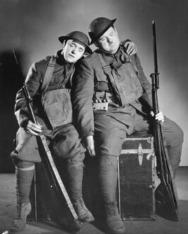 Stan Laurel and Oliver Hardy in George Marshall and Raymond Carey's Pack Up Your Troubles (1932)