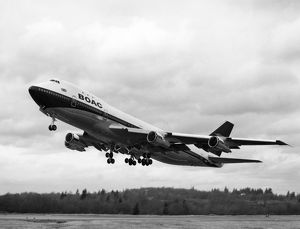 1st Boeing 747 for BOAC